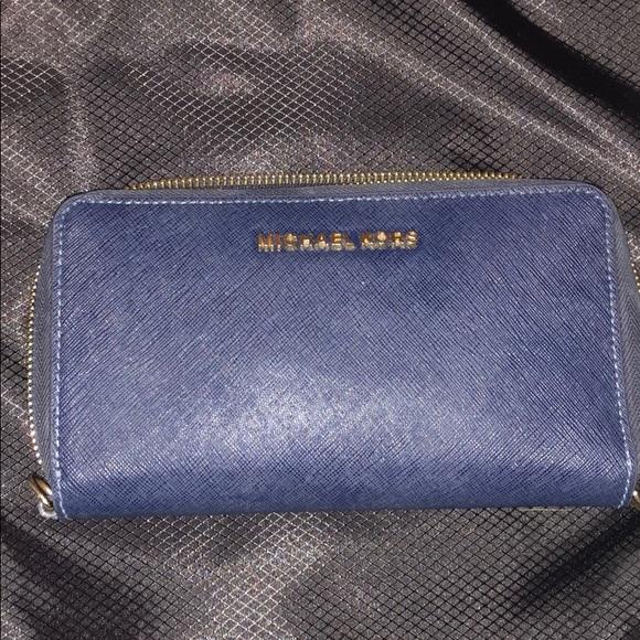 39b3d771e2f3 Michael Kors Bags   Navy Blue Large Wallet   Poshmark